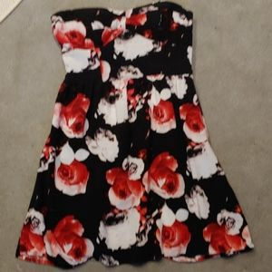 Charlotte Russe strapless print dress Size S